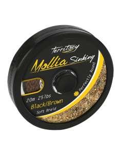 Mikado Mollia Hooklink Black/Brown 20m 25lbs